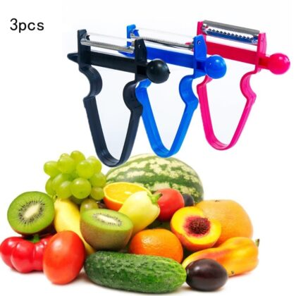 3pcs Slicer Shredder Peeler Julienne Cutter Multi Peel Stainless Grater Kitchen Tools Magic Trio Peeler Set
