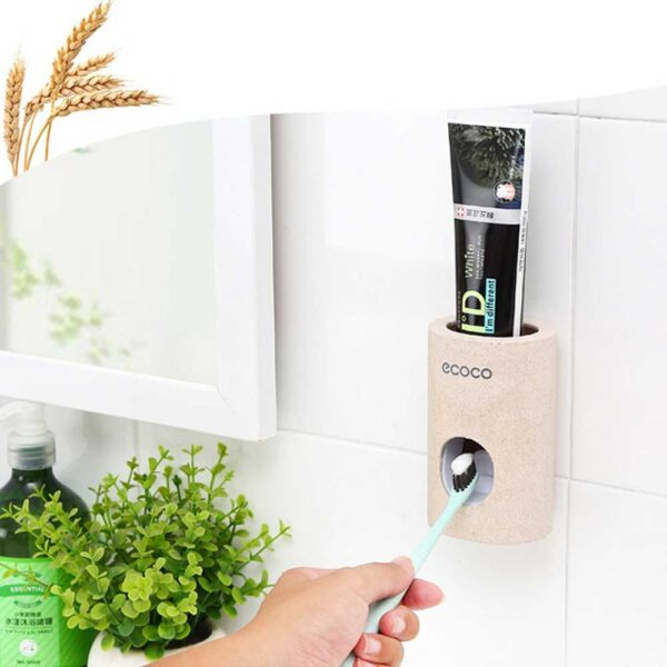 Toothpaste Squeezers Automatic Toothpaste Dispenser Tooth Dust-proof Toothbrush Holder Wall Mount Stand Bathroom Accessories Set