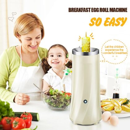 Stainless Steel Egg Roll Maker Hot Dog Bar Durable Egg Roll Machine Sausage 220V Creative Heating Food Omelette Cooker