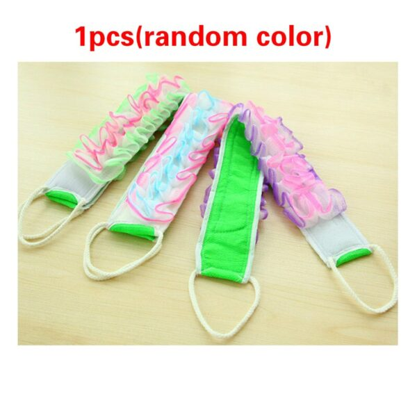 1/2/5pcs Bathroom Accessories Exfoliating Body Massage Shower Brush Natural Loofah Back Strap Bath Brush Body Cleaning Tools