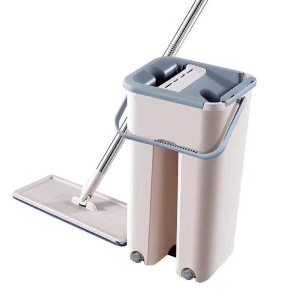 Self-Wringing Magic Mop Free Hand Washing Flat Mop Ultrafine Fiber Cleaning Cloth Home Kitchen Wooden Floor Mop Cleaner Househol