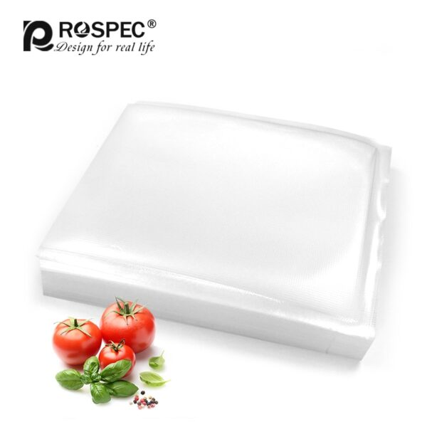 ROSPEC BPA Free Vacuum Sealing Bags Kitchen Dry Wet Food Vacuum Storage Bags Fruit Vaccum Sealer Packer Fresh-Keeping Bags 20*25
