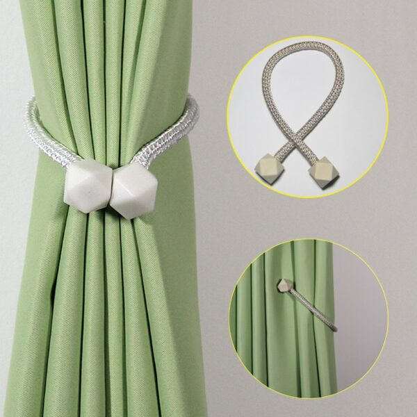 1Pc Magnetic Curtain Clip Tieback Decoration Cube Hanging Ball Curtain Holder Rope Straps Holdbacks Room Accessories