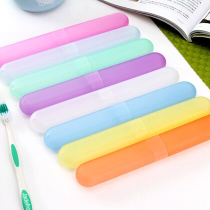 Portable Travel Hiking Camping Toothbrush Holder Case Lovely Convenient Toothbrush Box Home Bathroom Accessories Sets