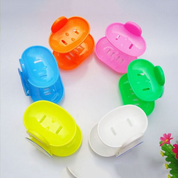 1Pcs Double Layers Soap Box Kitchen Tools Bathroom Accessories Soap Dish Suction Holder Storage Basket Soap Box Stand