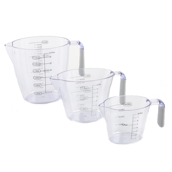 Wholesale cheap kitchen liquid digital kitchen measuring transparent plastic cups beaker set for baking
