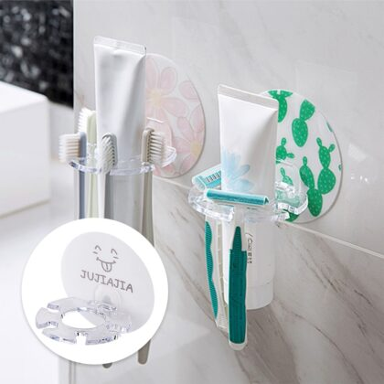 1PC Plastic Toothbrush Holder Toothpaste Storage Rack Shaver Tooth Brush Dispenser Bathroom Organizer Accessories Tools hot