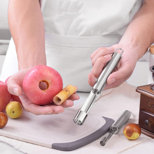 Wholesale Stainless Steel Easy Twist Core Seed Remover Fruit Apple Corer Kitchen Tool