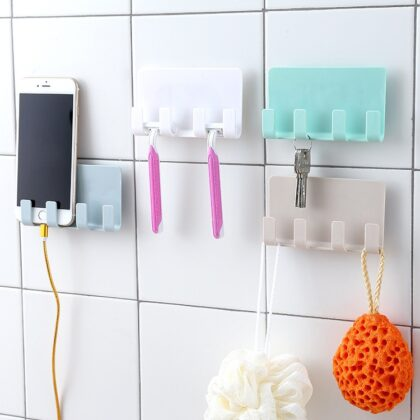 4 Colors Suction cup Bathroom Shelf Cell Phone Bracket Bathroom Shampoo Holder Storage Kitchen Bathroom Accessories Shower Shelf
