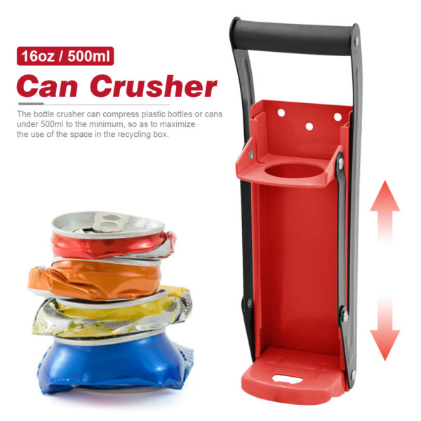 Metal Can Crusher Heavy Duty Bottle Opener Smasher Kitchen Tools for Soda Beer Cans Bottles