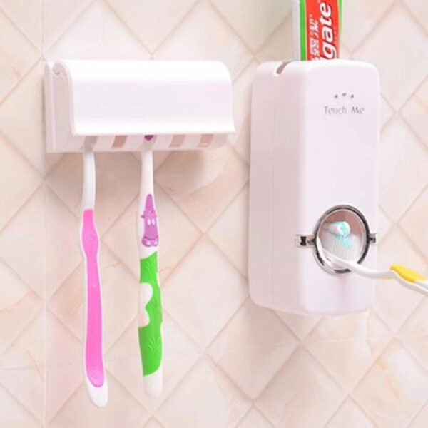 Bathroom Accessories Set Toothbrush Holder Automatic Toothpaste Dispenser Holder Toothbrush Wall Mount Rack High Quality