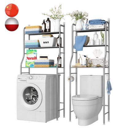 Over The Rack Bathroom Cabinet Washing Machine Rack Paper Towel Rack Space-Saving Shelf Home Storage Shelf Furniture