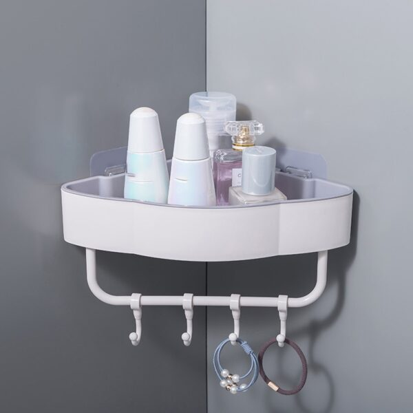 Bathroom Accessories Bathroom Shelves Shelf Storage Rack Punch-Free Shower Kitchen Accessories Wall Storage Organizer Rack