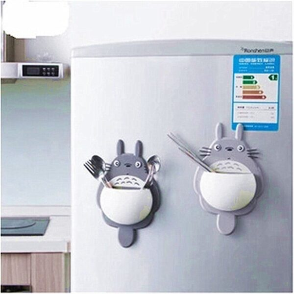 LINSBAYWU 1PCS Cute Cartoon Totoro Toothbrush Wall Mount Holder for family Decoration Bathroom Organizer Tools Accessories
