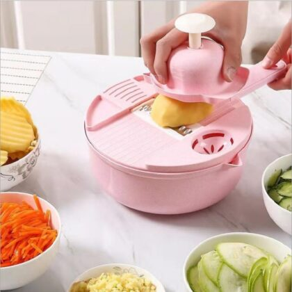 Droshipping Kitchen Gadgets Round Multi Functional Vegetable Cutter Potato Peeler Carrot Onion Grater Slicer with Strainer Veget