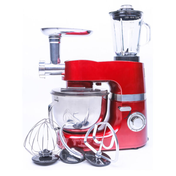 1200W Die Cast Kitchen Robot Heavy Duty Multifunction 3In1 Stand Mixer For Kitchen