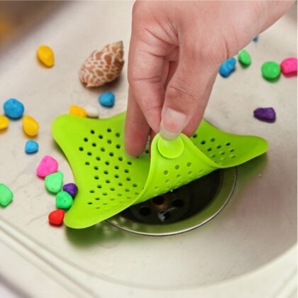 1pc Sewer Star Outfall Strainer For Kitchen Waste Bathroom Sink Filter Anti-blocking Floor Drain Hair Stopper Catcher Accessorie