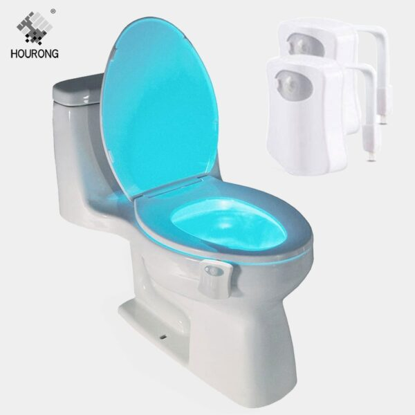 Toilet Seat LED Light Human Motion Sensor Automatic LED Lamp Sensitive Motion Activated Toilet Night Light Bathroom Accessories