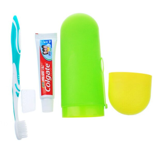 Portable Travel Toothbrush Holder Cover Case Bathroom Accessories Plastic Storage Cup Hiking Camping Toothpaste Holder