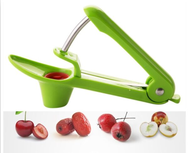 Cherry Pitter Tool, Heavy-Duty Cherry Pitter Remover Stoner Tool with Food-Grade Silicone Cup & Stainless Steel Construction
