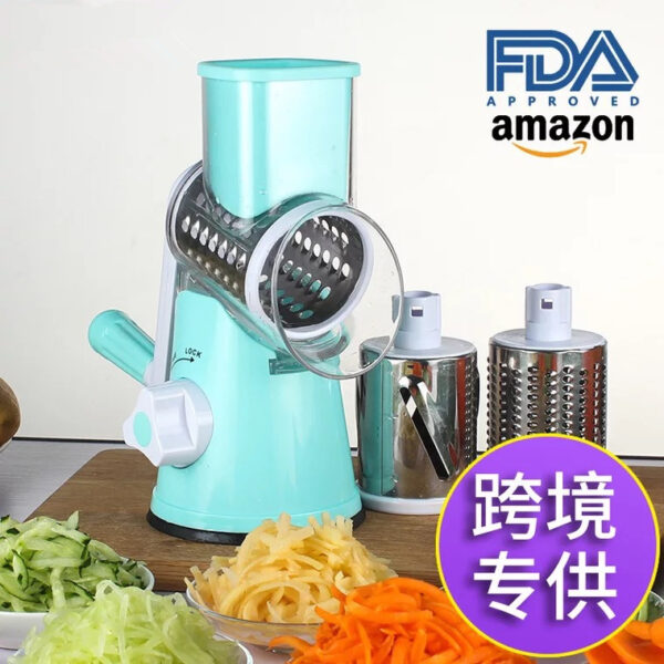 Amazon hot sale manual Multi-functional fruit&vegetable slicer cheese grater kitchen tools with English and Chinese packaging