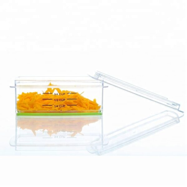 Food Grade 6'' Kitchen Stainless Steel Vegetable Grater With Container