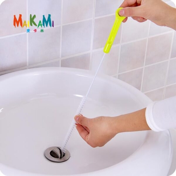1pcs Sewer Cleaning Brush,Home Bendable Sink Tub Toilet Dredge Pipe Snake Brush Tools Creative Bathroom Kitchen Accessories