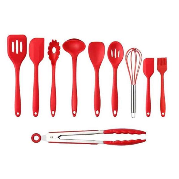 Best brand heat resistant cooking silicon spatula kitchen cookware set