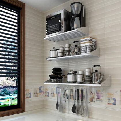 PTOC Storage Holders Racks Kitchen Rack Shelf Cabinet Organizer Kitchen Cabinet Organizer Bathroom Accessories