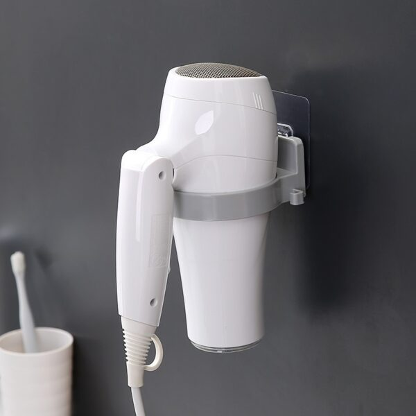 Multi-Function Hair Dryer Rack Bathroom Hanging Seamless Wall Storage Hair Dryer Holder Bathroom accessory storage shelf