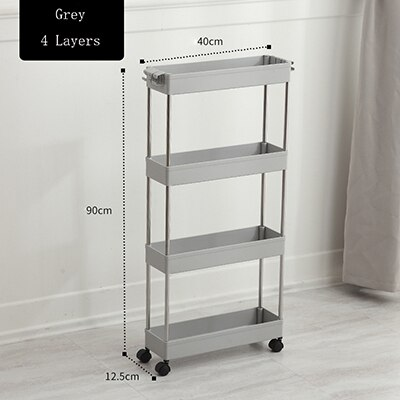 kitchen small gap storage rack four-story kitchen narrow cabinet living room floor partition frame home bathroom cabinet