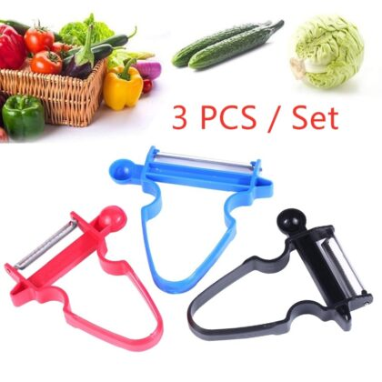 3pcs/set Vegetable Fruit Trio Peeler Set Slicer Shredder Julienne Vegetable Cutter Multi Peel Peeler Blade Zesters Kitchen Tools