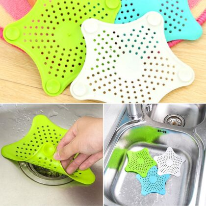 Anti-blocking Floor Drain Mat Silicone Sewer Outfall Strainer Sink PVC Filter Hair Stopper Catcher Bathroom Kitchen Accessories