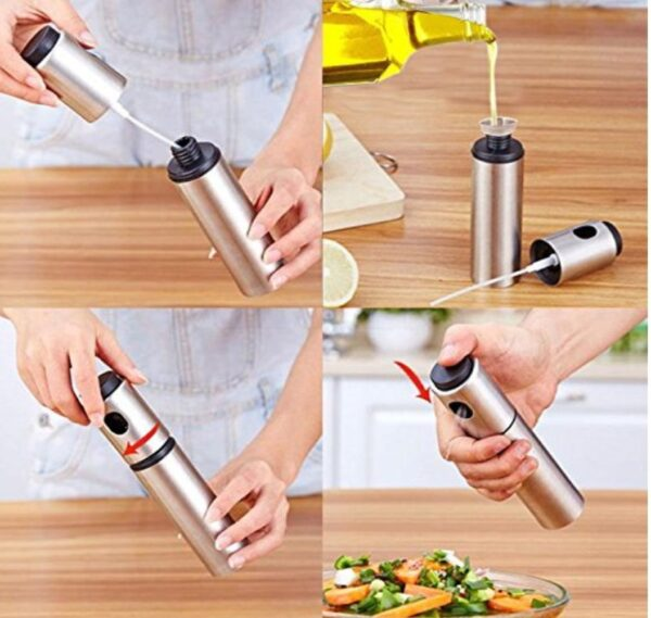 Spraying Bottle Water Pump Gravy Boats Grill BBQ Sprayer Kitchen Tools Stainless Steel Spray Bottles Refillable Oil LU11291402