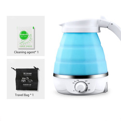 Folding silica gel household electric kettle insulation 0.6L kitchen appliances