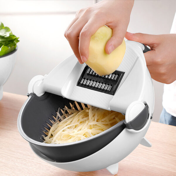 Wholesale Multifunction Kitchen Tools Vegetable Cutter Potato Cucumber Carrot Grater Vegetables Slicer with Drain Basket