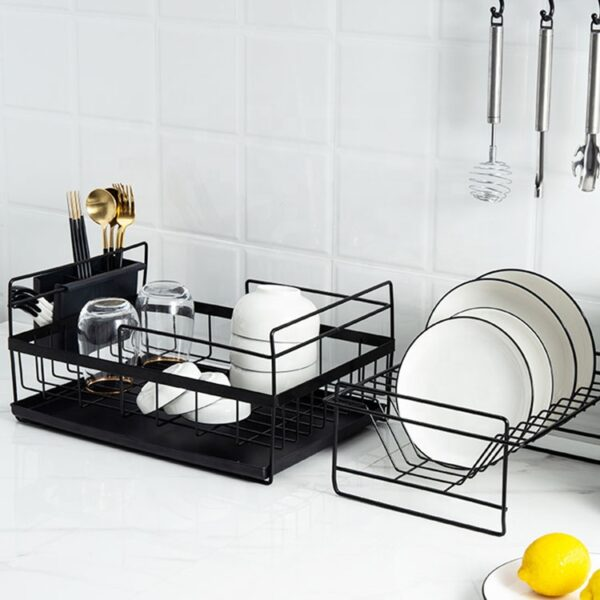 Multipurpose organizing kitchen storage counter Home use dishes drying rack over sink