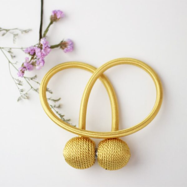 1Pc Magnetic Pearl Ball Curtain Tiebacks Accesorios Curtain Cilp Accessory Curtain Holder Buckle Rope
