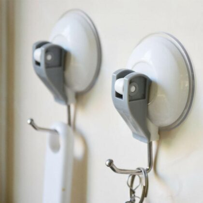 Suction Cup Hooks Strong Self Adhesive Door Wall Hangers Suction Cup Sucker Wall Hooks Hanger For Kitchen Bathroom Accessories