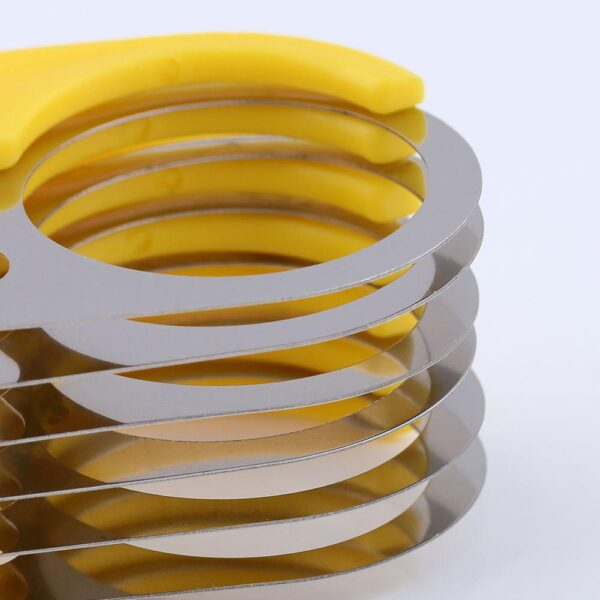Banana Slicer Fruit Vegetable Chopper Salad Stainless Steel Cucumbers Sausages Cutter Home Kitchen Tools