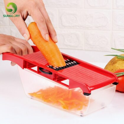 Creative Mandoline Slicer Julienne Slicer Vegetable Slicer Set With 6 Interchangeable Stainless Steel Blades Multi Kitchen Tools