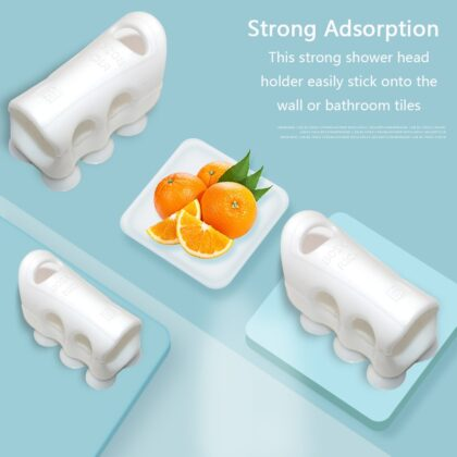 1/2Pcs Shower Head Holder Reusable Wall Mount Suction Cup Brackets Shower Bracket Mount Wall Rack Stand For Bathroom Accessories