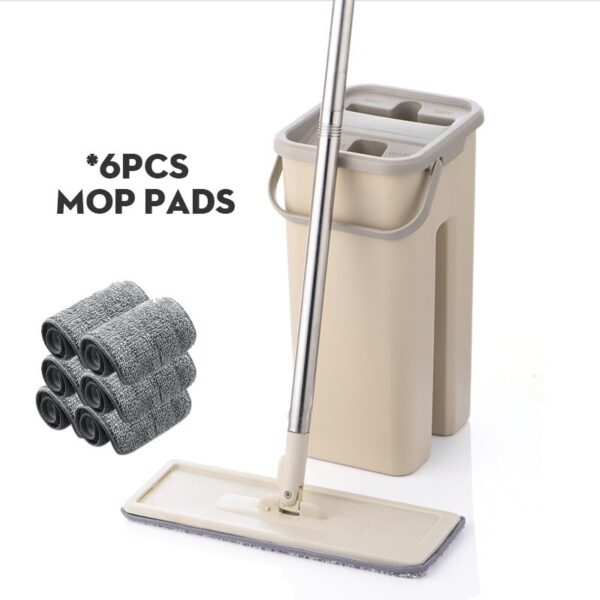Magic Cleaning Microfiber Mop and Bucket Free Hand Mop with Bucket Floor Flat Mop Home Kitchen Floor Cleaner tool Drop Shipping