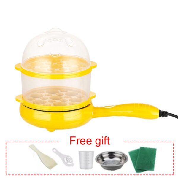 Single Layer Egg Cooker Boiler Heating Pot Cooking Equipment Electric Frying Pan Kitchen Appliance Kitchen Accessories 2 Layers