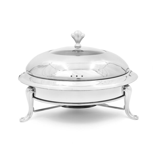 Alcohol Stove Chafing Dish Silver Round rectangle buffet Catering Warmer Set for kitchen party banquet