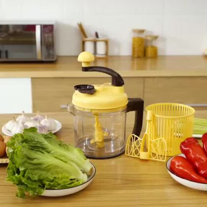 Hot selling plastic multi-functional kitchen vegetable chopper slicer & grater stainless steel blades
