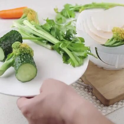 2019 New Kitchen Gadget Quick Cutter Chopper Kitchen Tool Best Salad Maker Salad Cutter Bowl