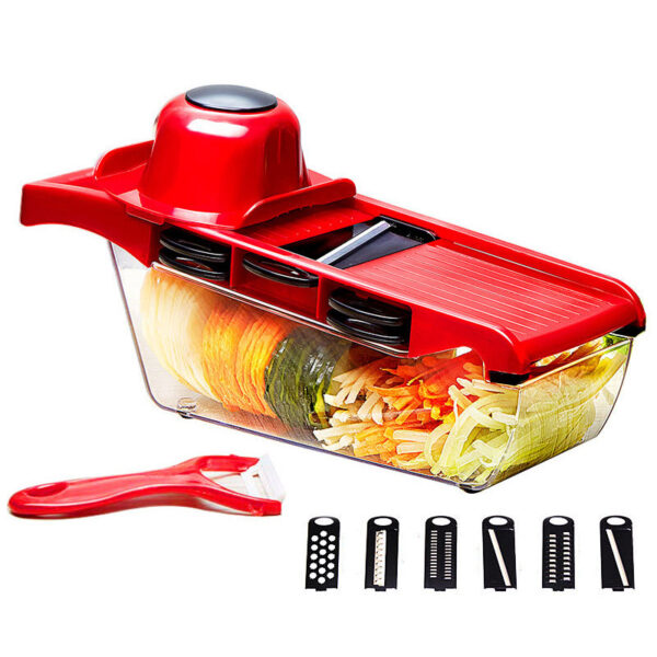 Kitchen Multi-function Slicer Vegetable Cutter with Stainless Steel Blade Manual Grater Dicer Kitchen Tool